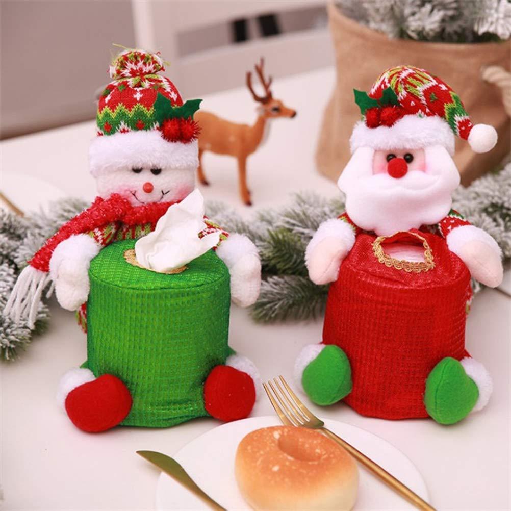 BESTOYARD Caja de Pañuelos de Navidad de Papá Noel Adornos de Navidad: Amazon.es: Hogar
