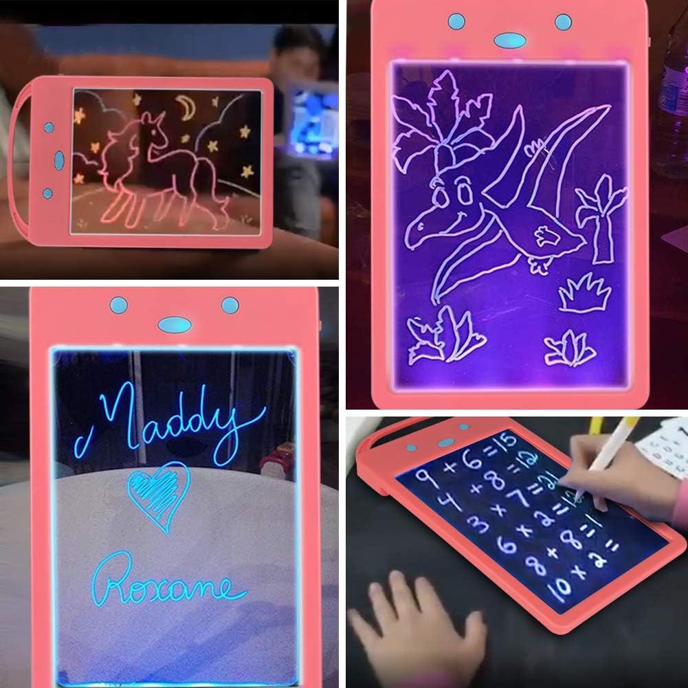 Giocattoli educativi e Regali disegnare OVAREO Tavolo da Disegno Magico scarabocchiare Giocattoli per la Scrittura a Mano per Bambini Scribble Board Portatile con Disegno 6 Penne a Colori