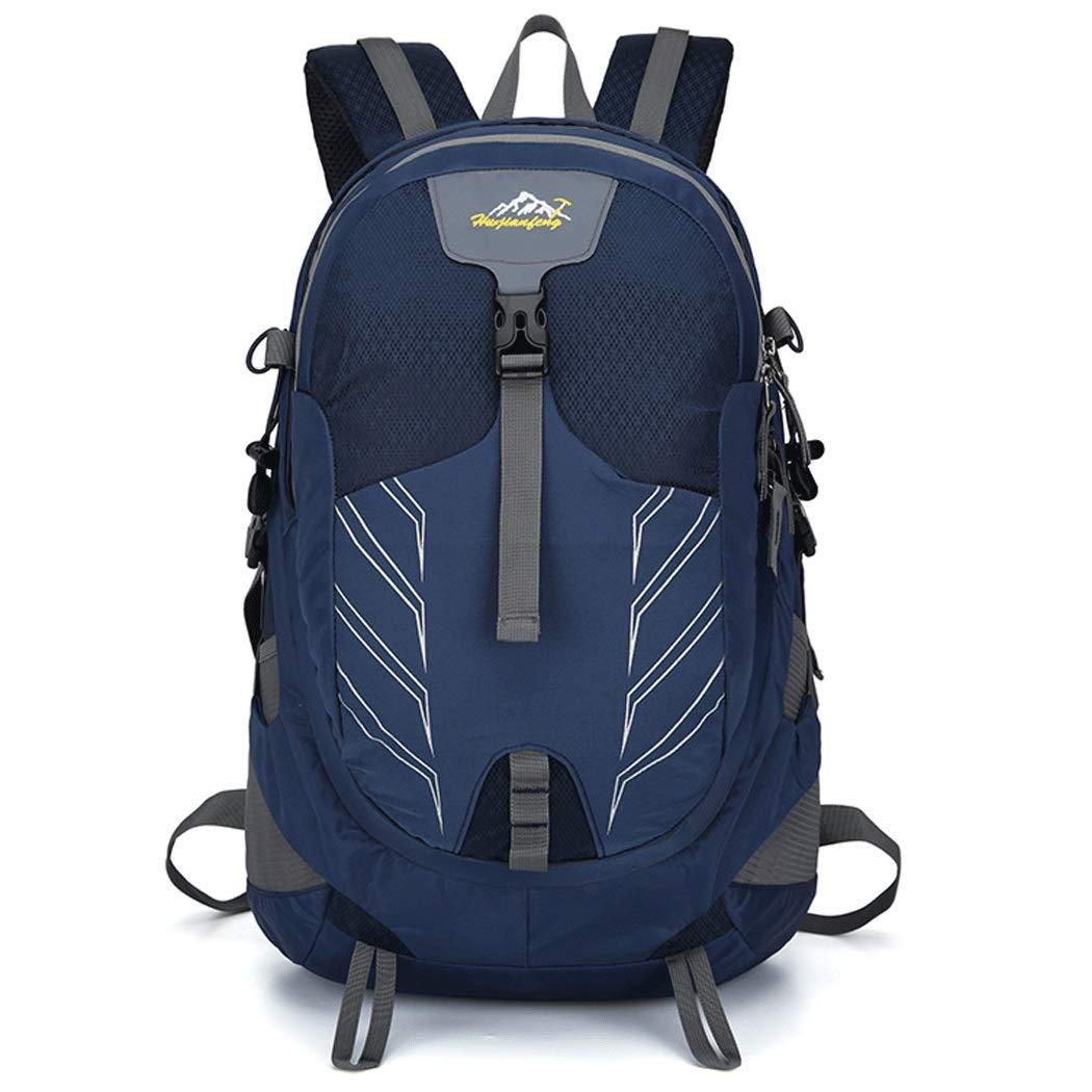 アウトドアスポーツバックパック 大容量 多機能 ファッションカジュアルショルダーバッグ メンズ&レディース 旅行ハイキングバックパック 473327cm (カラー:ネイビーブルー、サイズ:473327cm) B07S5BXT5Y