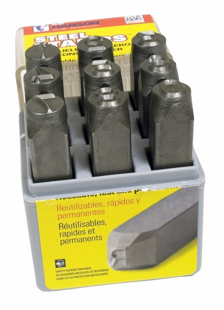 CH HANSON Premier Stamps - Size: 3/32'' Case Type Material: Plastic