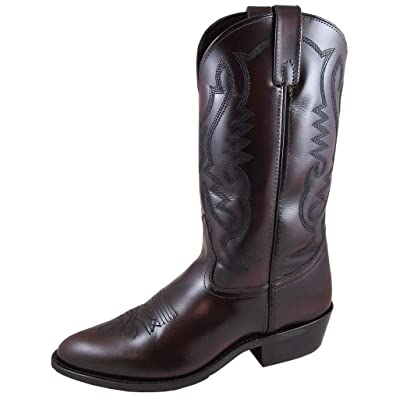 Smoky Mountain Men's Denver Leather Western Cowboy Boot: Sports & Outdoors
