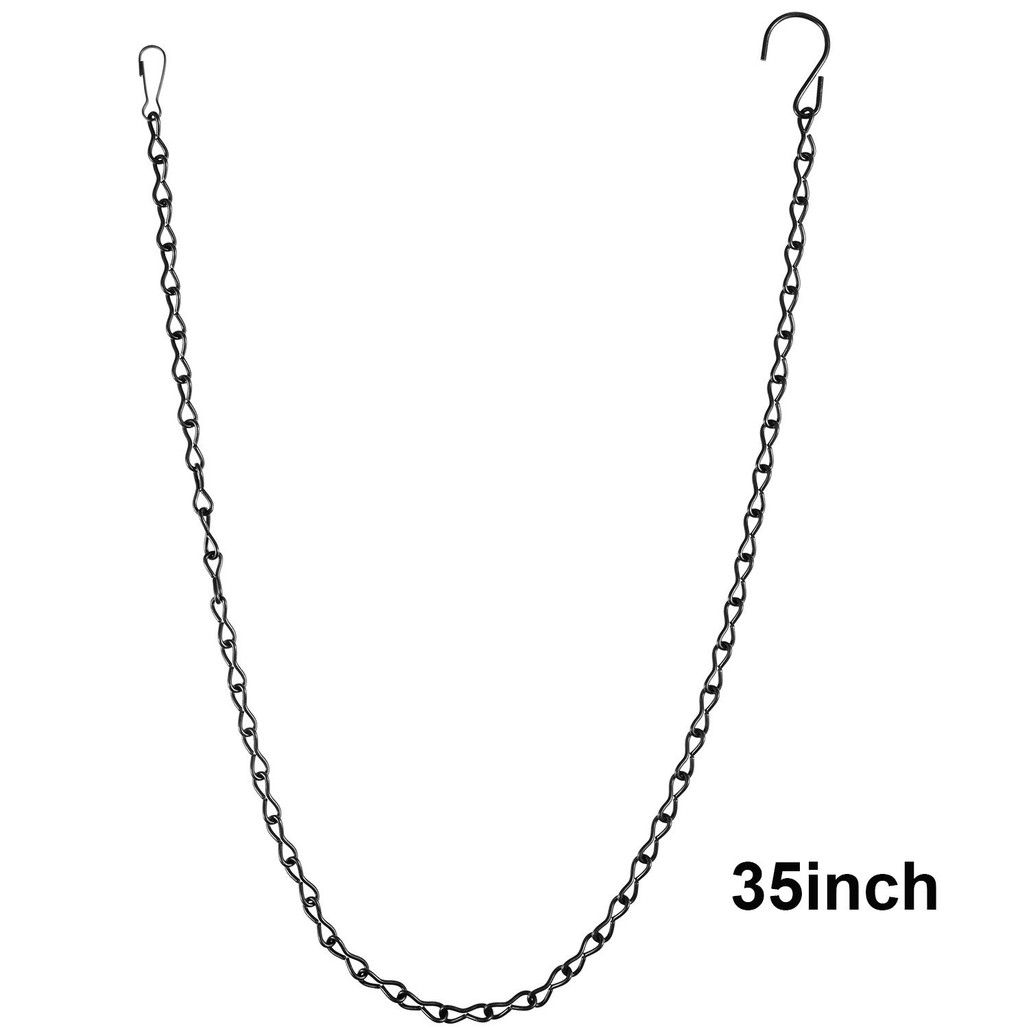 Silver Lanterns and Ornaments eBoot 35 Inch Hanging Chain for Bird Feeders Planters