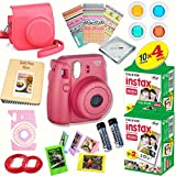 Fujifilm Instax Mini 8 (Raspberry) Deluxe kit bundle Includes: - Instant camera with Instax mini 8 instant films (40 pack) - A MASSIVE DELUXE BUNDLE