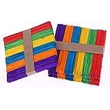 200 pièces Artisanat Bâtons en bois Art coloré Lollipop Stick Perfect for Craft Items (Colorful)