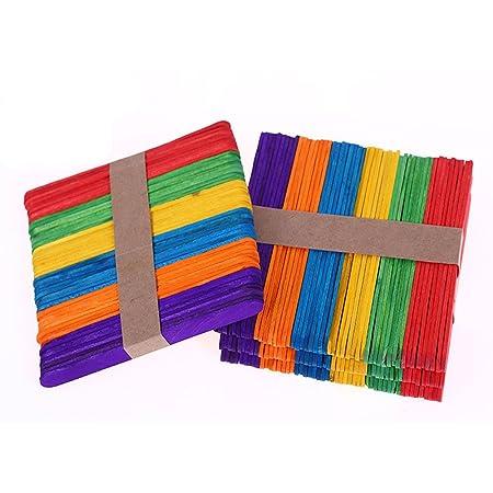 200 piezas de Madera del Arte Palillos Palos de Arte de Colores ...