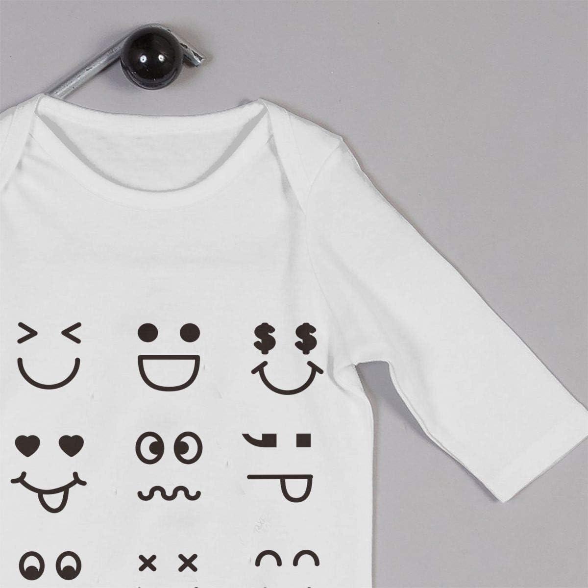 Zhuru Smiley Emoticons Baby Jersey Bodysuit Cotton Bodysui