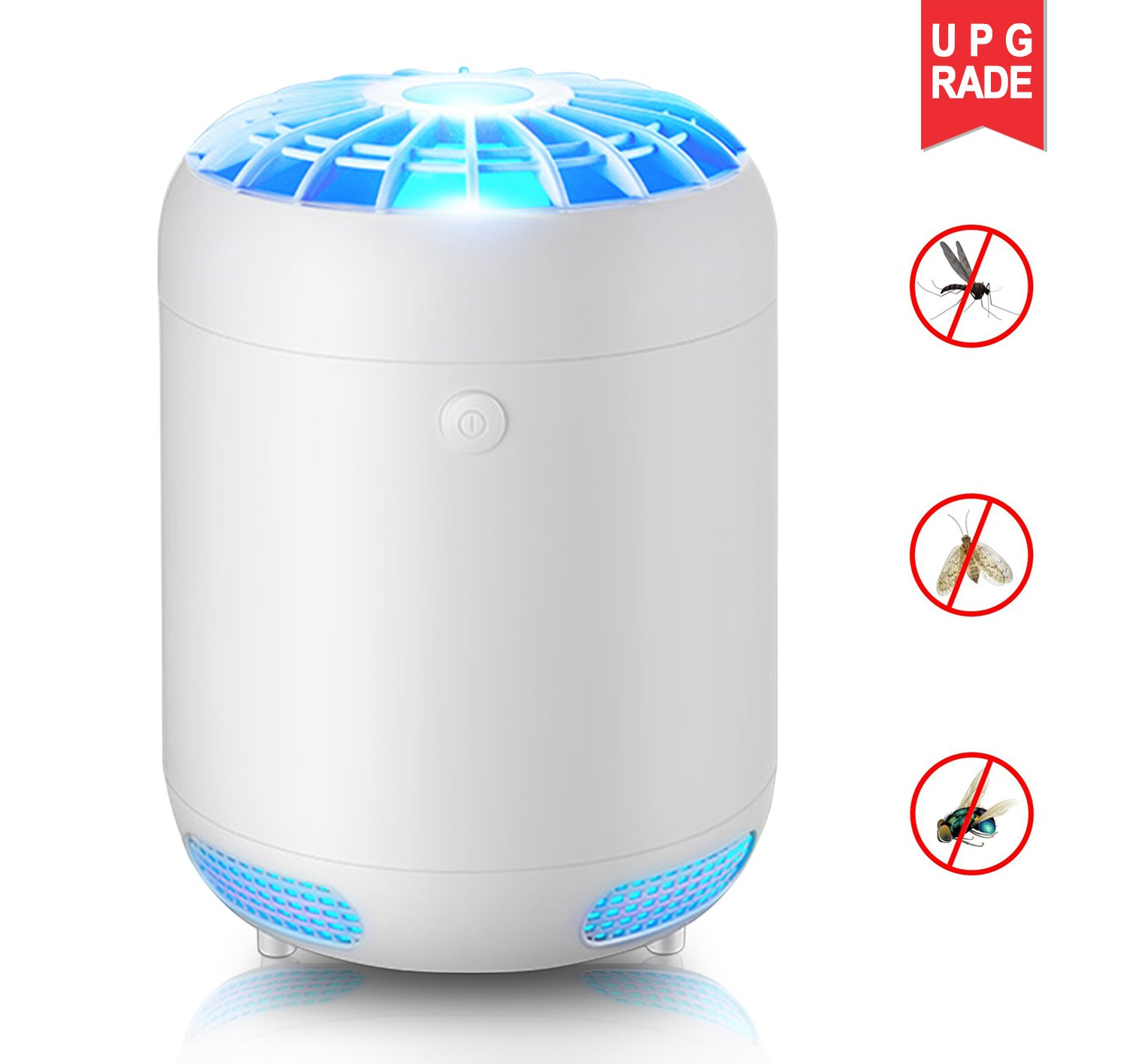KKPOT Electronic Bug Zapper,Indoor Mosquito Killer,Insect Catcher Trap, Fly Pest Control Device with UV Light Lamp for Home and Commercial Night Use