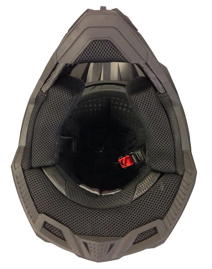 L Motorradhelm MX Enduro Quad Helm Nikko N-720 Matt Schwarz Gr