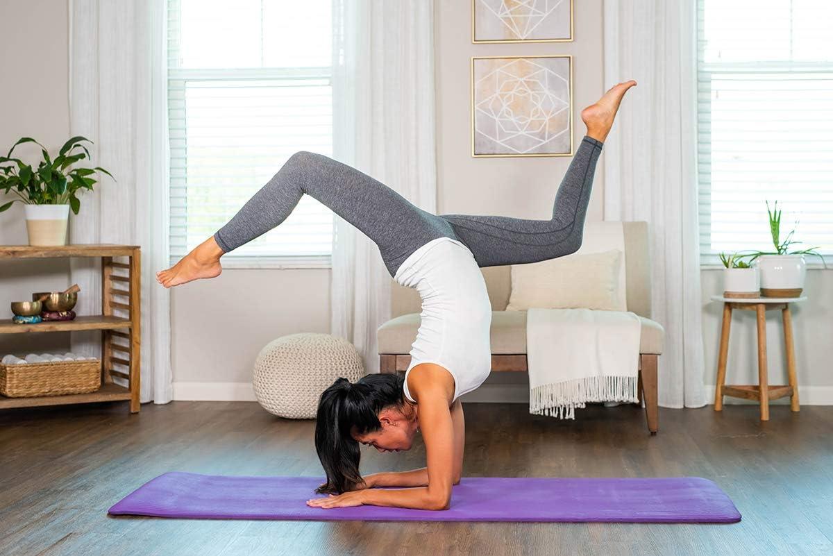 diMio Komfort-Gymnastikmatte Yogamatte in 185x60x1cm 185x60x1.5cm 185x90x1.5cm 200x100x2 mit Tragegurt Phtalatfrei SGS-gepr/üft