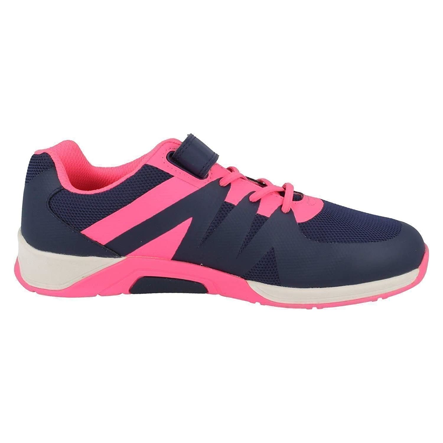 Clarks Trace Star Junior Synthetic Trainers In Blue Standard Fit Size 6:  Amazon.co.uk: Shoes & Bags