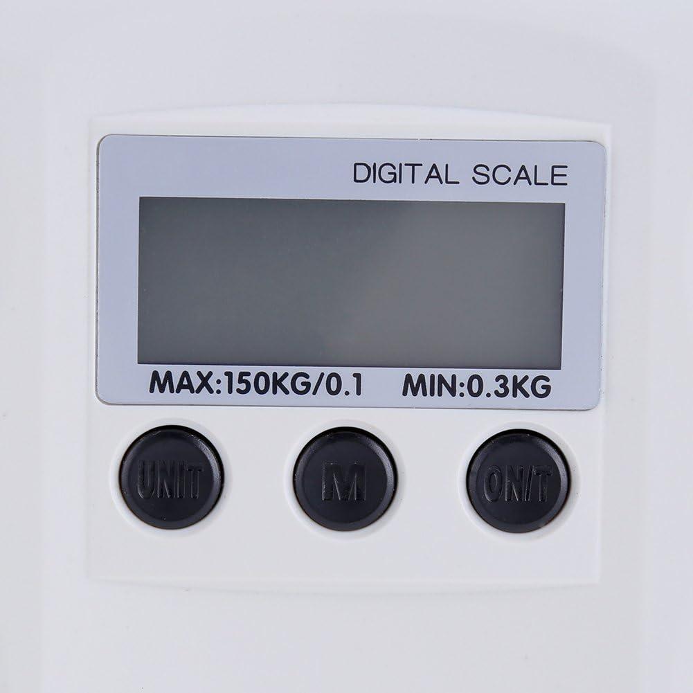 Digitale LCD-K/örpergewichtungswaage Elektronische Ein//Tara-Funktion Batterie schwach//Alarmsperre Baby-Haustier-Gesundheitsmesser-Waage