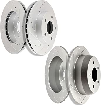 Cherokee Front+Rear Brake Rotors For 1999 2000 2001 2002 2003 2004 Jeep Gr