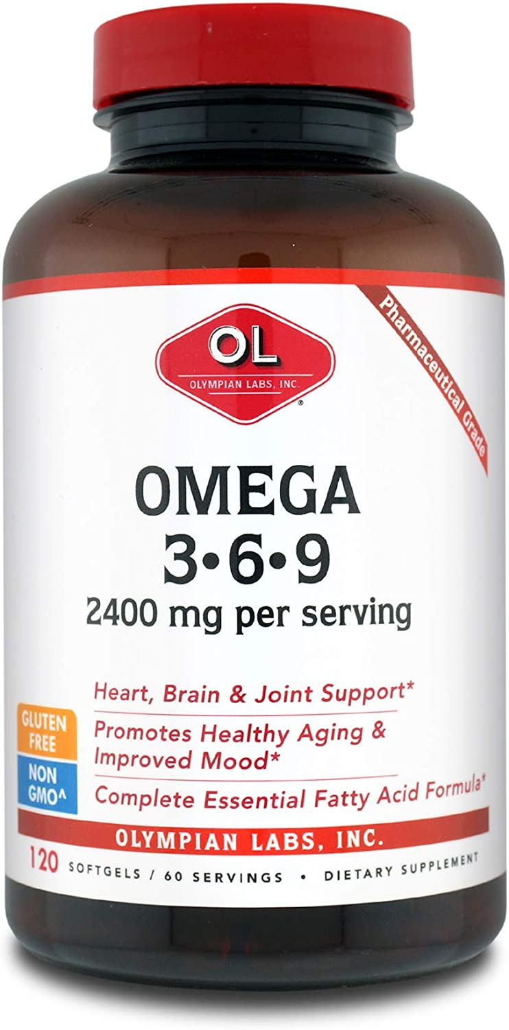 Olympian Labs Non- GMO Omega 3-6-9 with 2400 mg per Serving