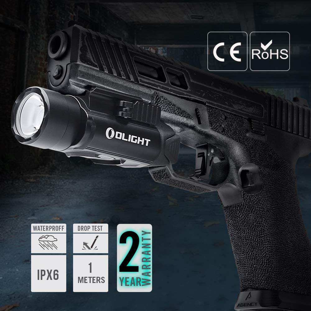 OLIGHT PL-Pro Valkyrie 1500 Lumens Cree XHP 35 HI NW Rechargeable Weaponlight Rail Mount Tactical Flashlight with Strobe (Black) by OLIGHT (Image #7)