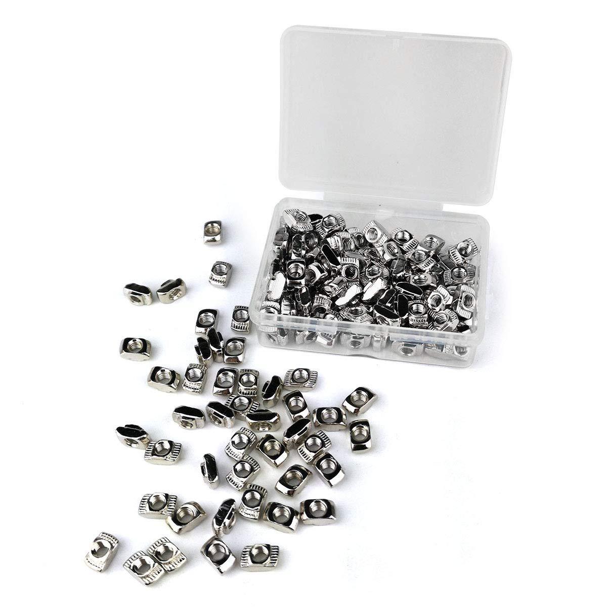 2020 Series T Slot Nut Fastener Nut for T Slot Aluminum Profile 150 Pcs M4 T Nuts