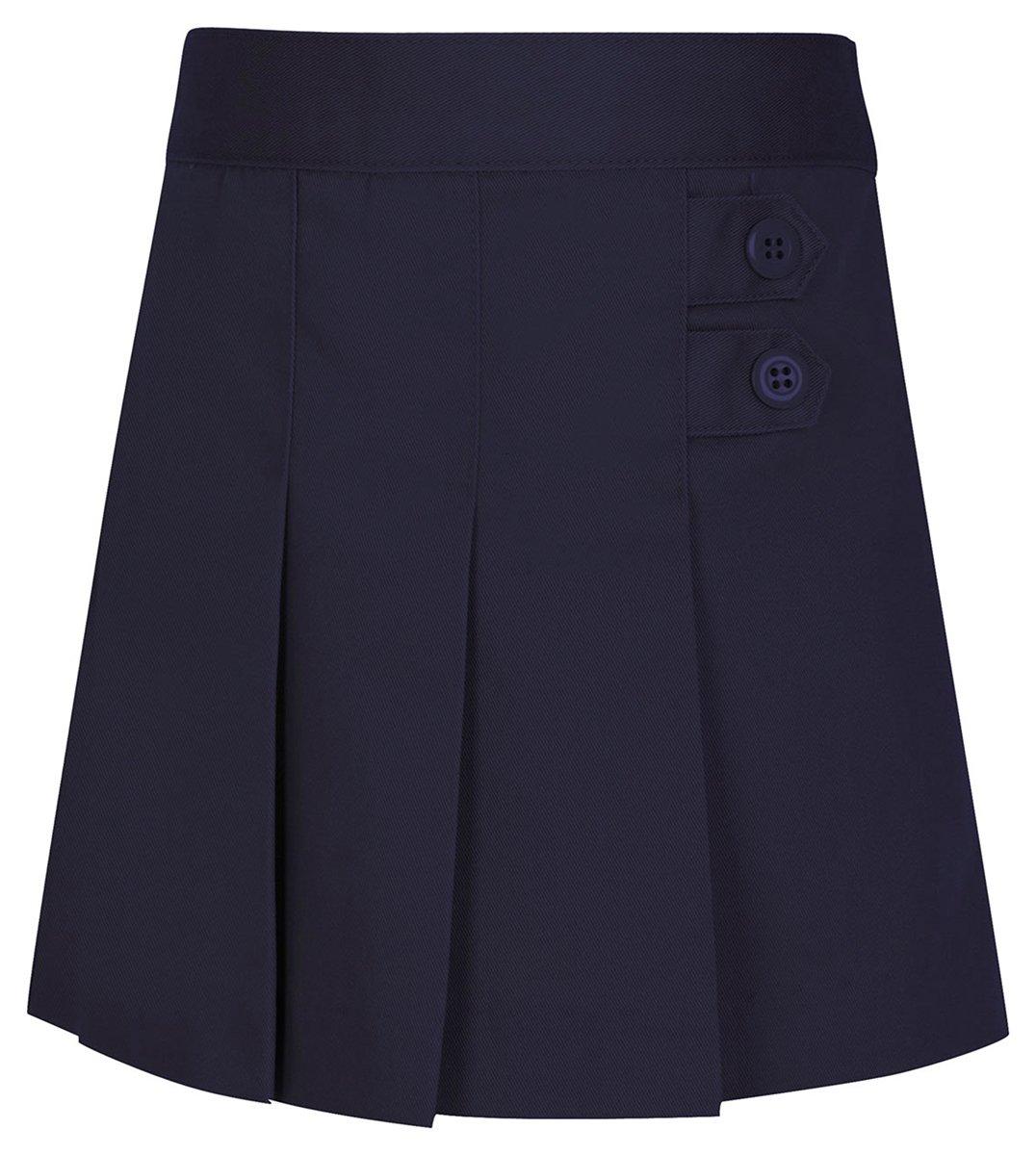 Classroom Little Girls' Toddler Uniform Pleated Tab Scooter, Dark Navy, 4T