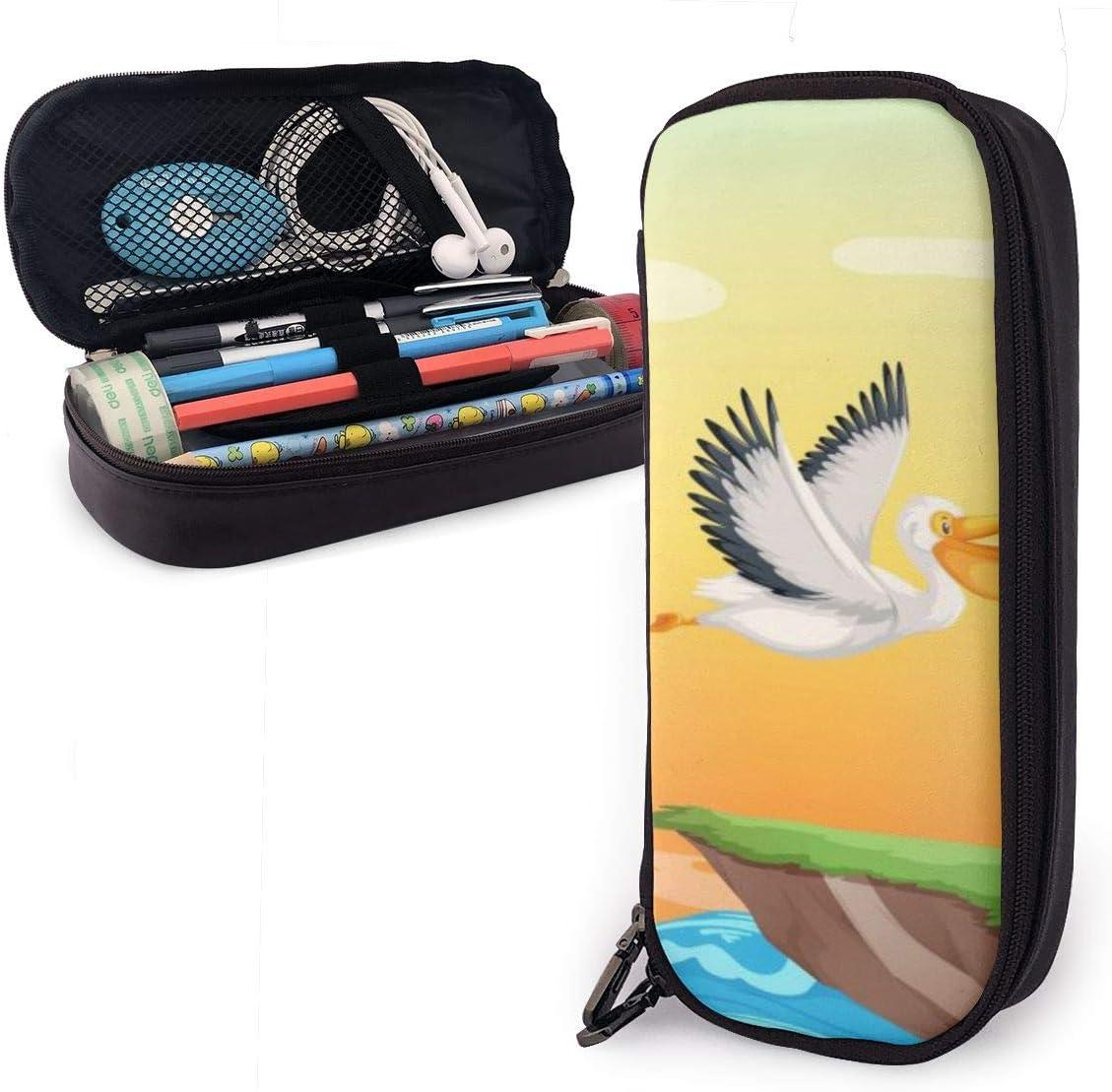 Estuche Pelican Flying On The Sky para niños y niñas, estuche grande para lápices, estuche para estudiantes, universidad, material escolar y oficina: Amazon.es: Oficina y papelería
