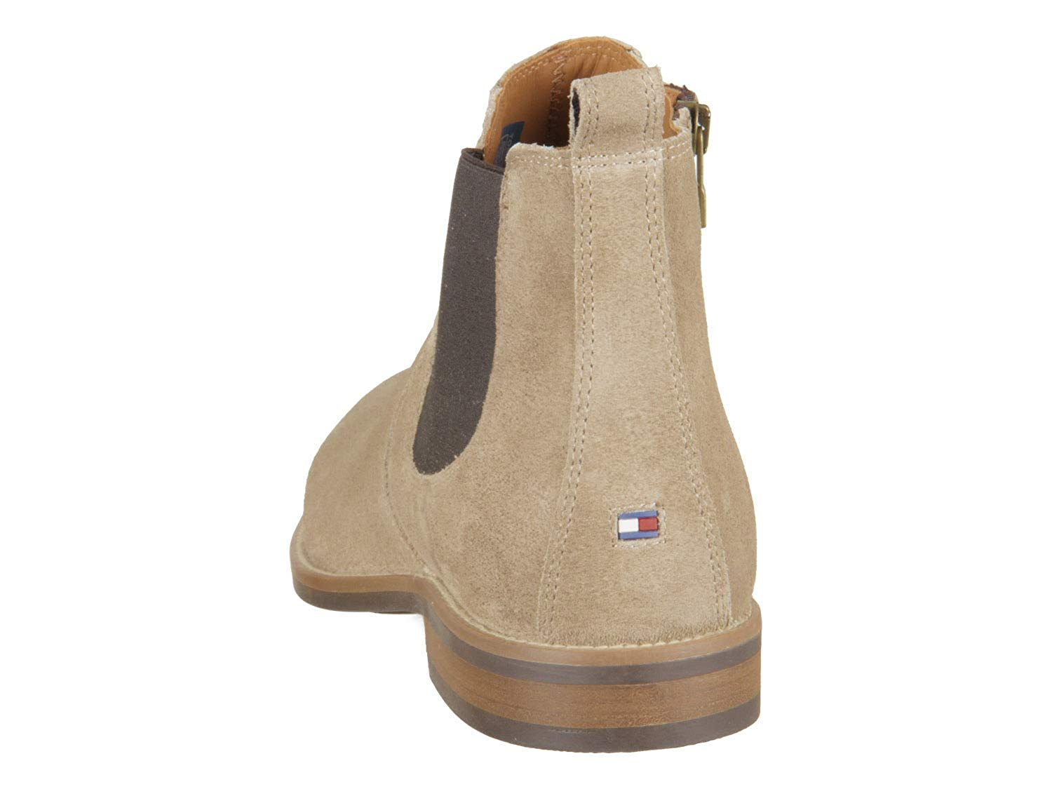 Tommy Chelsea Hilfiger Essential Suede Chelsea Tommy Boot Beige (Taupe Grey) 150445