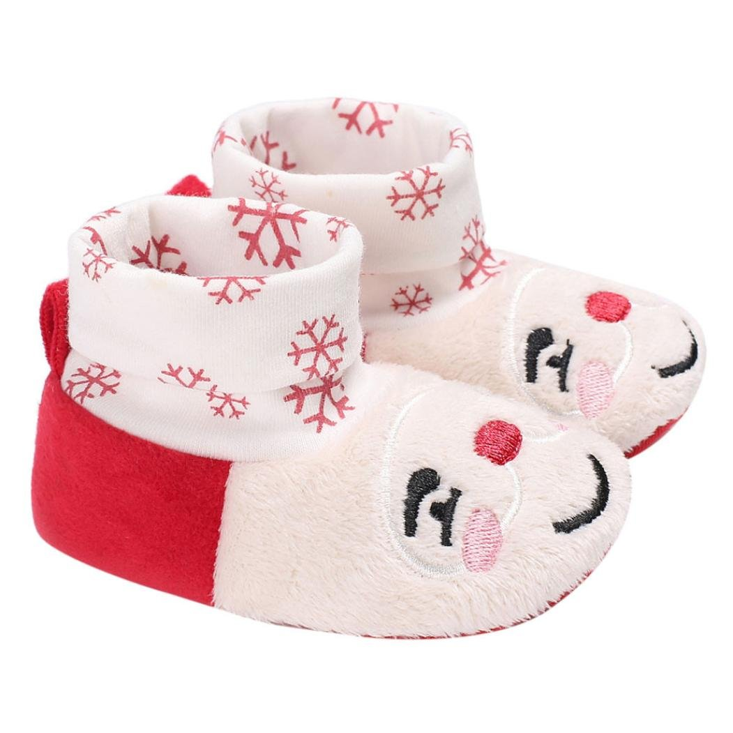 So Cozy Newborn Shoes,Elaco New Baby Infant Kids Girl Soft Sole Crib Sneaker 0~6 Month, Red
