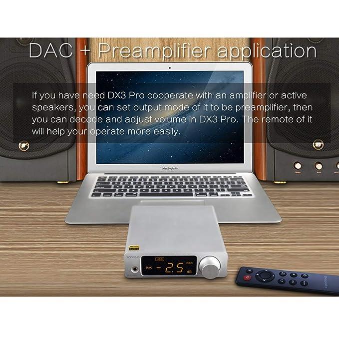 Dilvpoetry Topping DX3 PRO HiFi DAC Headphone Amplifier XMOS XU208  Bluetooth USB/Optical/Coaxial DSD512 32bit/768KHz Stereo Audio Amplifier  Decoder