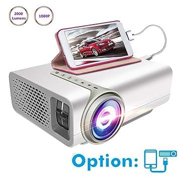 Proyector Proyectores Mini proyector 2000 lúmenes 1080p HD ...