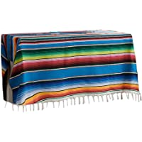 Awhao Camping & Picnic Blanket Mexican Indian Style Rainbow Beach Blanket Cotton Tapestry