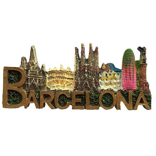 Imán de resina para nevera de Barcelona Italia con texto en inglés ...