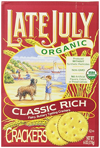 Late July Organic Classic Rich Crackers, 6-Ounce Boxes (Pack of 12) July Sampler
