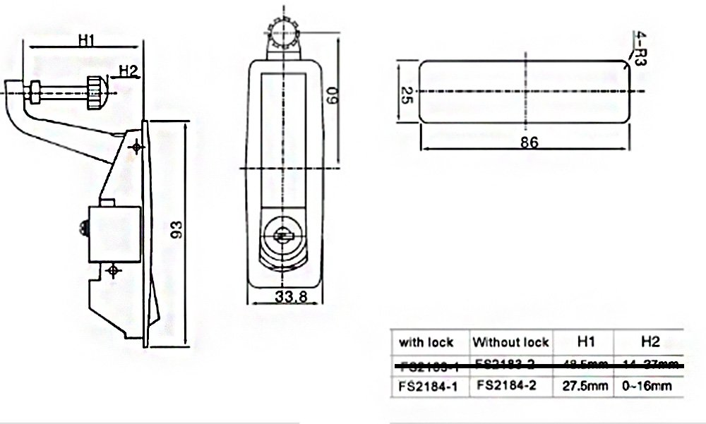 X-Haibei Compression Latch OEM Replacement Flush Lever Latches Adjustable Black Bus RV