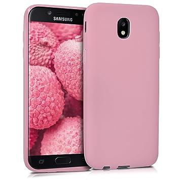 kwmobile Funda para Samsung Galaxy J5 (2017) DUOS - Carcasa para móvil en [TPU Silicona] - Protector [Trasero] en [Rosa Palo Mate]
