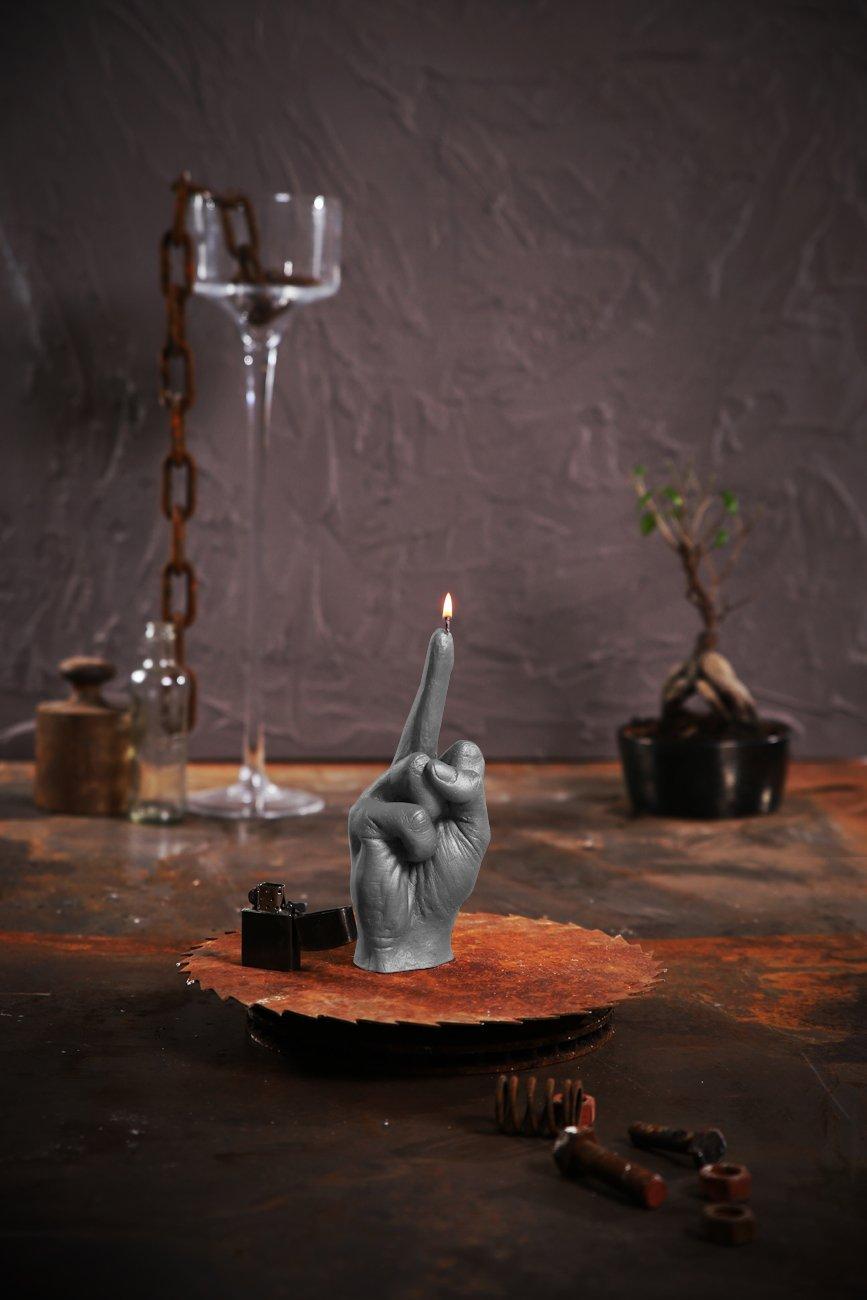 Candellana Candles 5902815467946 Middle Finger Candellana Candle-Gray M, Gray Matt by Candellana Candles (Image #1)