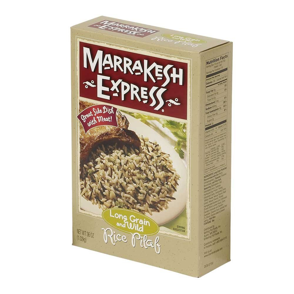 Marrakesh Express Long Grain and Wild Rice Pilaf, 36 Ounce - 6 per case.