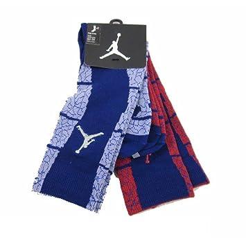Nike Jordan Retro Elefante Imprimir Gran Crew Calcetines Niños Tamaño 10 C-3y Rojo/Morado: Amazon.es: Deportes y aire libre