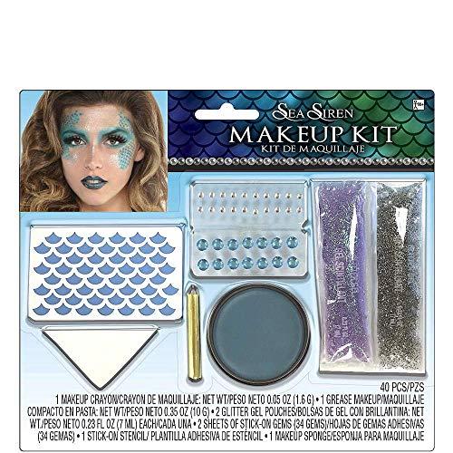 Siren Halloween Makeup (Hallo Makeup Halloween Costume Accessories Makeup Adult Sea Siren Mermaid Makeup)