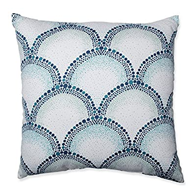 Pillow Perfect Shelamar Teal 16.5-Inch Throw Pillow - Material: Cotton Style: Patterned Season or Holiday: All Seasons - living-room-soft-furnishings, living-room, decorative-pillows - 61vL5t dS4L. SS400  -