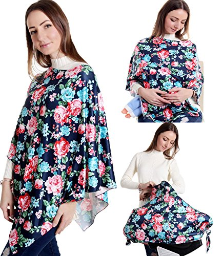 Nursing Cover Carseat Canopy Nursing Scarf Baby Breastfeeding Infinity Bassinet Wrap (Best Bassinet For Breastfeeding)