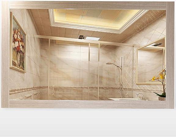 GUOWEI Miroir Murale Salle De Bains Haute Définition De Bois ...
