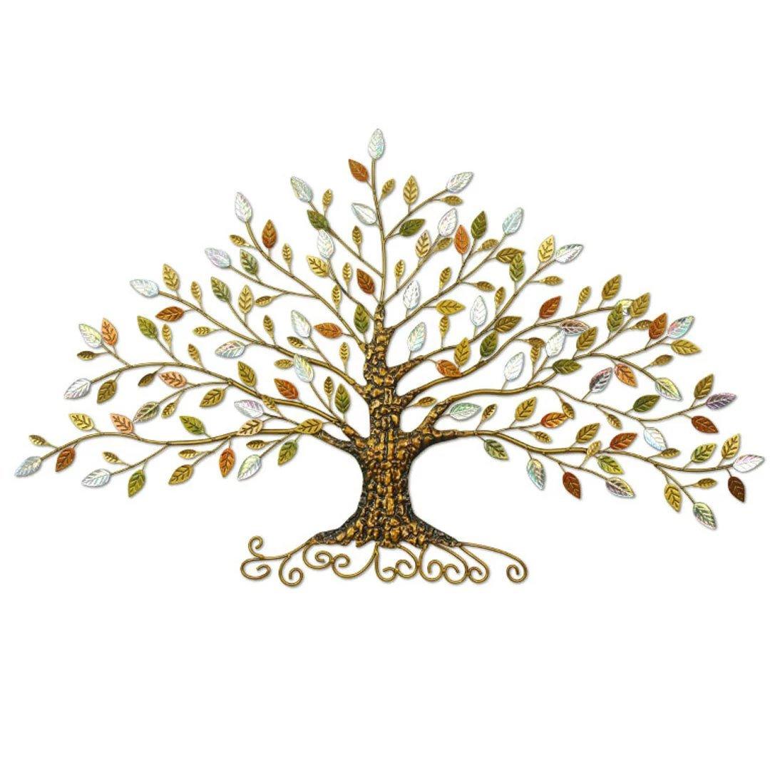 木の葉 壁アート アイアンアート アイアンの壁飾り おしゃれ 壁面飾り 玄関雑貨枝 ヨーロッパ ストラップ アイアン 立体 ヨーロッパ アクセサリー 店舗飾り YKFN67*125cm B01LKH3L34 67*125cm 67*125cm