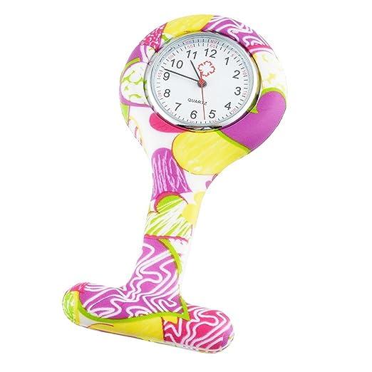 Souarts para mujer reloj de bolsillo de Broche colgante reloj de ...