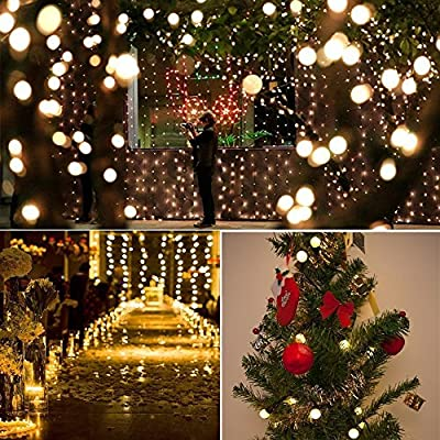 Foccoe LED String Fairy Lights Holiday LED Indoor&Outdoor Lighting for Christmas Party Wedding Decoration Halloween Showcase Waterproof