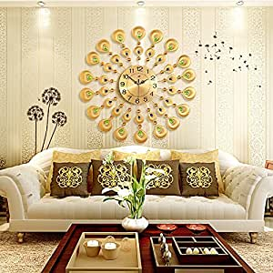 Cc Creative Personality Living Room Wall Clock Continental Watches Mute Modern Clock