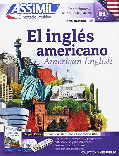 Assimil Pack El Ingles Americano sin Esfuerzo ; American English for SPanish speakers Book+MP3 CD