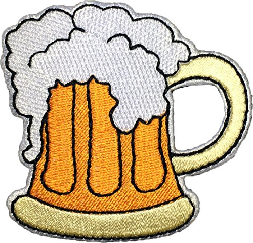 Papapatch Beer Glass Sew Iron on Embroidered Applique Badge Sign Patch - Great Summer Beers