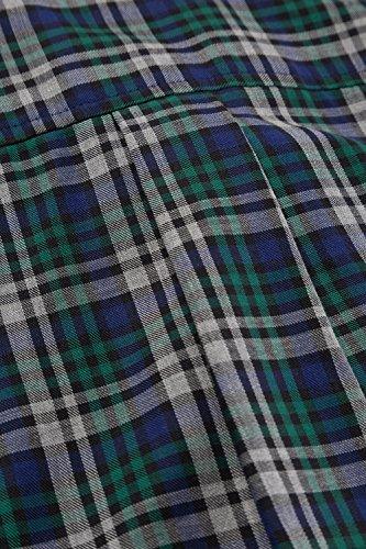 JP 1880 Homme Grandes tailles Chemise à carreaux vert foncé 3XL 706522 41-3XL