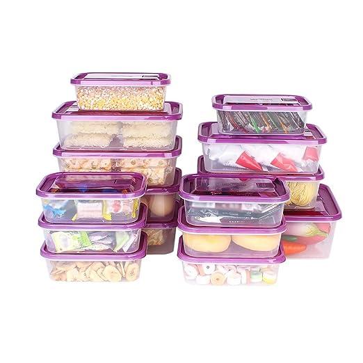 Kitchenware Juego de plástico Caja de Almacenamiento ...
