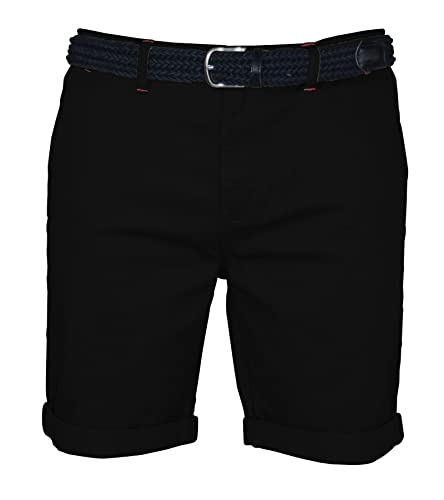 westAce Mens Stretch Chino Shorts Slim Fit Smart Belted Half Pant