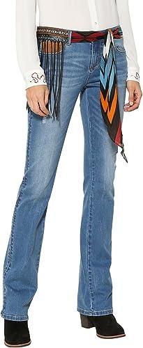 TALLA 30W. Desigual Denim_Jayne Pantalones Vaqueros Bootcut para Mujer