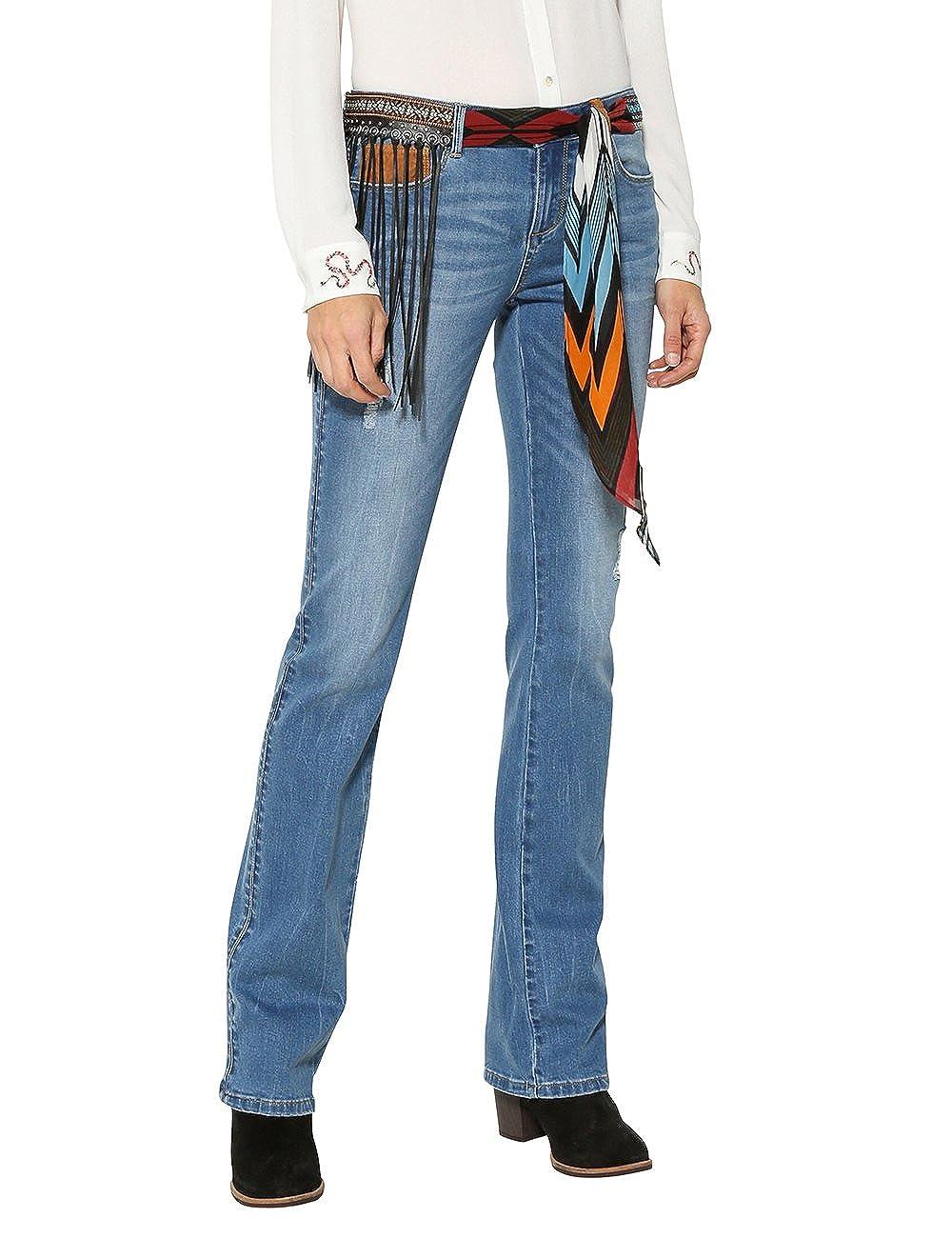 TALLA W30. Desigual Denim_Jayne Pantalones Vaqueros Bootcut para Mujer