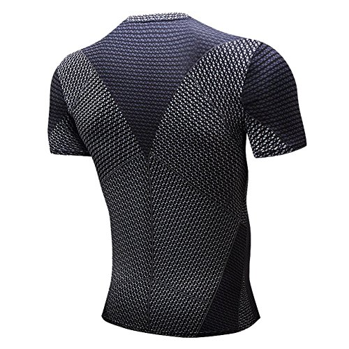 COOL Mens Compression Fitness Tee,Casual Bat Men Quick-dry Sports Shirt