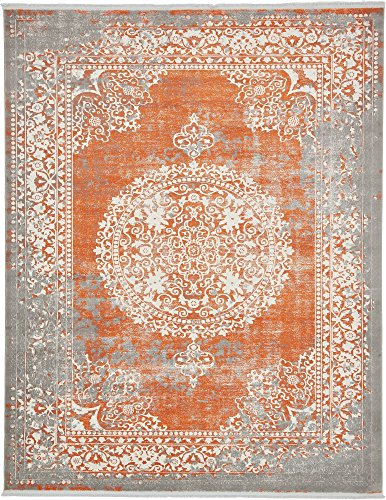 Unique Loom New Classical Collection Traditional Distressed Vintage Classic Terracotta Area Rug (8' 0 x 10' 0) (Terra Cotta Rug)
